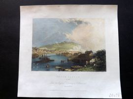 After Brandard 1834 Hand Col Print. Dover Castle, Kent